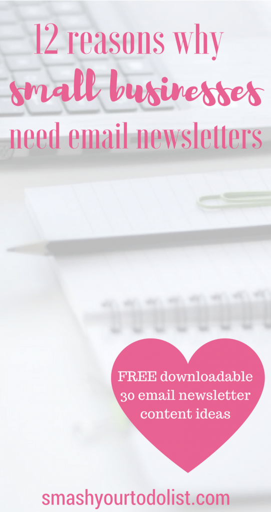 reasons why every small business should have an email newsletter