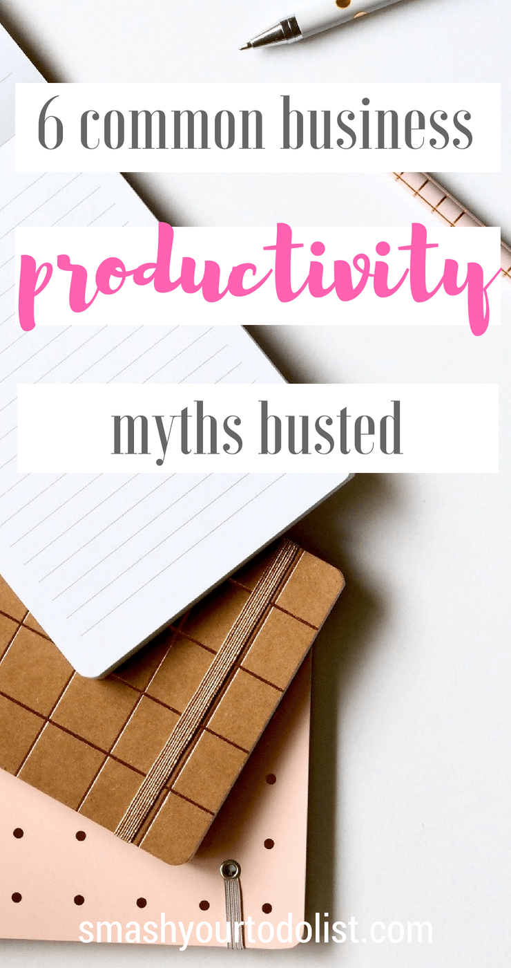 6 common business productivity myths busted